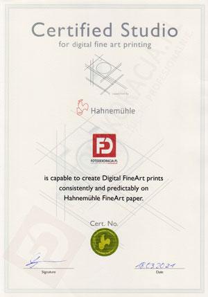 FOTODEKORACJA.PL - certyfikowane studio Hahnemuhle